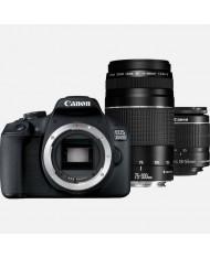 Canon EOS 2000D 18-55mm 75-300mm double lens kit