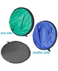 Collapsible Twist Flex Cotton Backdrop Panel Screen Green Blue 150x200cm