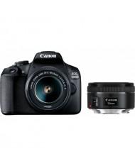 Canon EOS 2000D 18-55mm + 50mm double lens kit