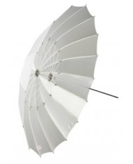 White transparent umbrella 105 cm Fibro