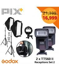 Godox reception set 2 tt560 II