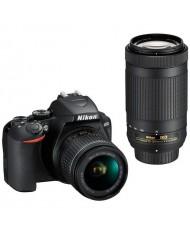 Nikon D3500 Double kit AF-P DX 18-55 VR + 70-300mm VR + Bag + SD 16 GB