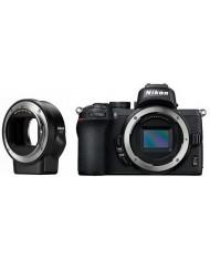 Nikon Z 50 with FTZ Mount Adapter