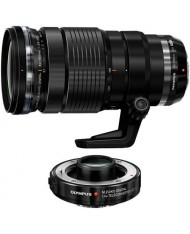 Olympus M.ZUIKO DIGITAL 40-150mm 1:2.8 PRO Lens with MC-1.4 1.4x Tele Converter