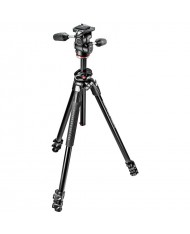 Manfrotto MK290DUA3-3WUS 290 Dual Aluminum Tripod with 3-Way Pan/Tilt Head