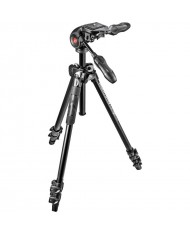 Manfrotto MK290LTA3-3WUS 290 Light Aluminum Tripod with 3-Way Pan/Tilt Head