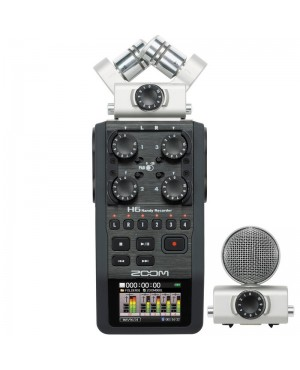 Zoom H6 6-Input / 6-Track Portable Handy Recorder with Interchangeable Mic Capsules