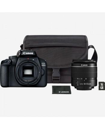 Canon EOS 4000D 18-55mm kit + SD16gb + Canon bag