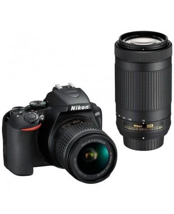Nikon D3500 Double kit AF-P DX 18-55 VR + 70-300mm VR + SD 64GB