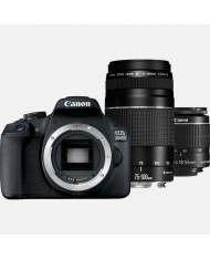 Canon EOS 2000D 18-55mm 75-300mm double lens kit