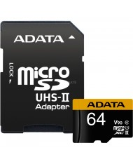 ADATA Premier ONE 64GB SDXC UHS-II U3 Class10 V90 3D NAND 4K 8K Ultra HD 275MB/s Micro SD Card with Adapter