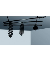 Ceiling track, 2 single, 3 double, 3 pantograph