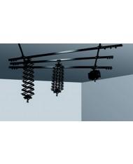 Ceiling track, 2 single, 3 double, 3 pantograph