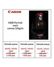 Canon 500B Portrait matt canvas 320g/m