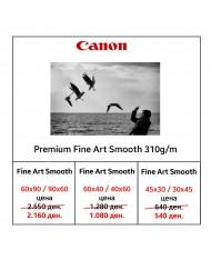 Canon premium fine art smooth 310g/m photo paper