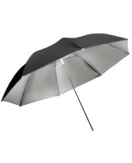 Silver reflective umbrella 109 cm