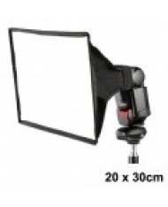 Mini softbox for speedlight flash 20x30cm