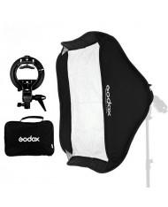 Godox 60x60cm Foldable Grid Softbox + S-Type Bracket Bowens Mount Holder