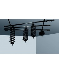 Ceiling track, 2 single, 3 double, 4 pantograph