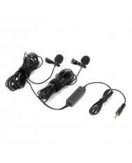 Saramonic LavMicro 2M Dual Omnidirectional Lavalier Microphone for DSLR Camera and Smartphone