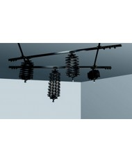 Ceiling track, 2 single, 2 double, 4 pantograph