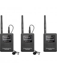 Saramonic SR-WM2100 2-Person Camera-Mount Digital Wireless Omni Lavalier Microphone System for Cameras and Smartphones (2.4 GHz)