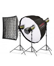 Studio lighting kit Speedster QT II 3x600 Premium